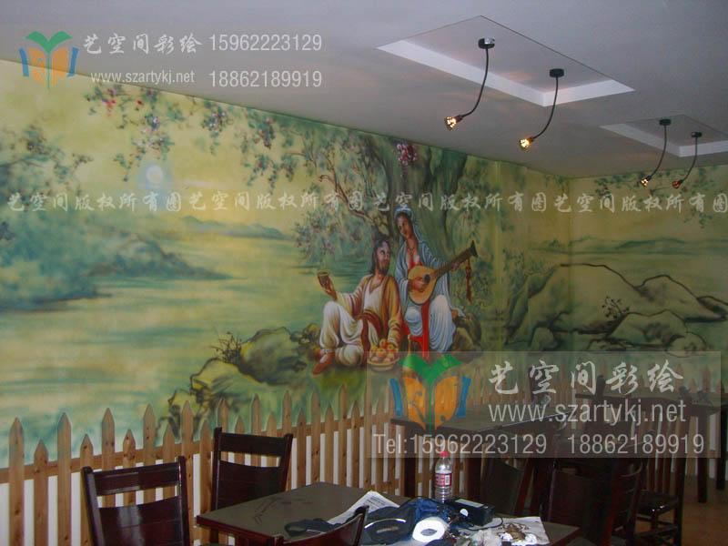 苏州火锅店彩绘