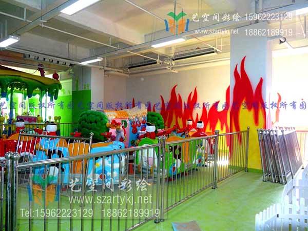 游乐园墙绘